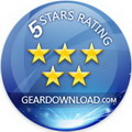 5 stars award from GearDownload.com