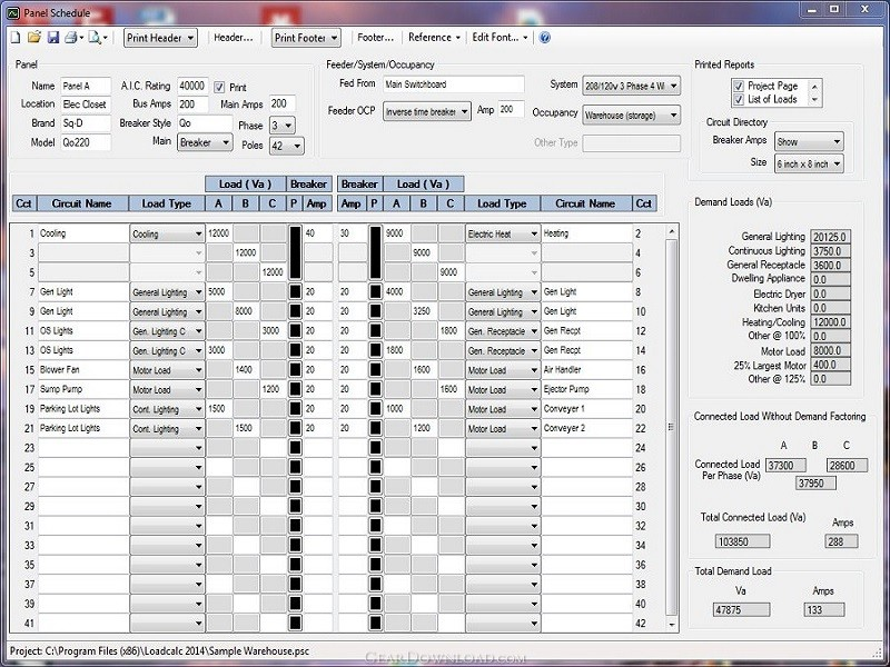 loadcalc 2014 panel schedule 1 4 free download
