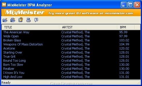 mixmeister bpm analyzer download
