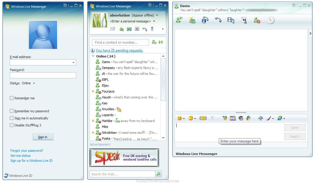 MSN Messenger 7 0 Free Download