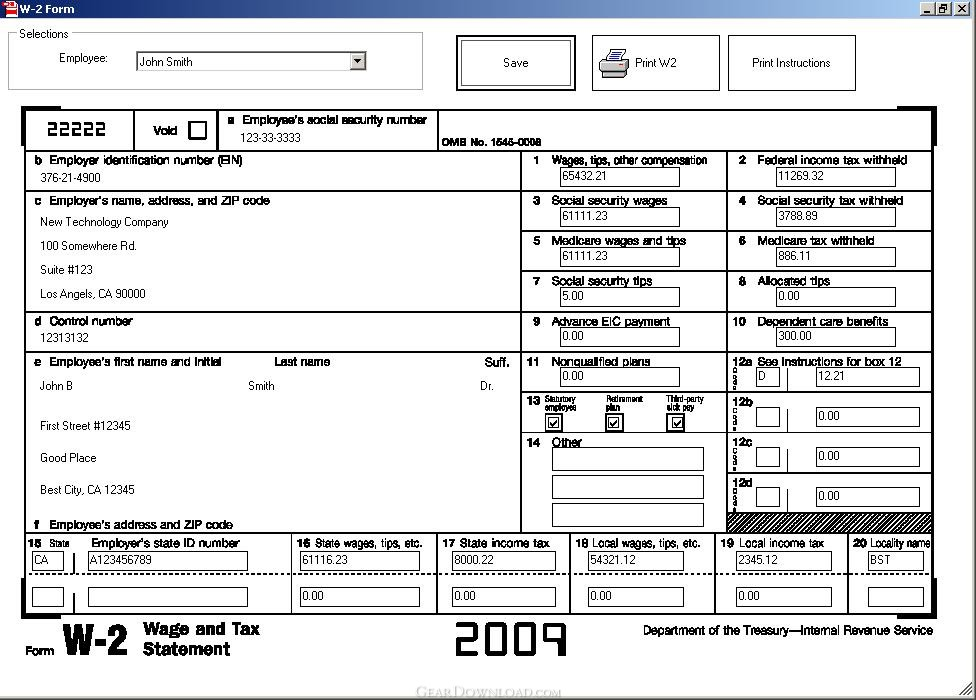 w2c template - ezw2 2012 w2 1099 software 6 0 1 free download