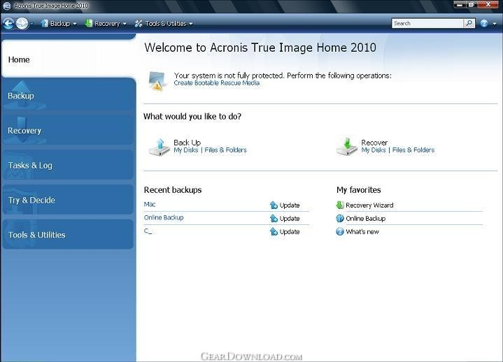 acronis true image home 2010 free download