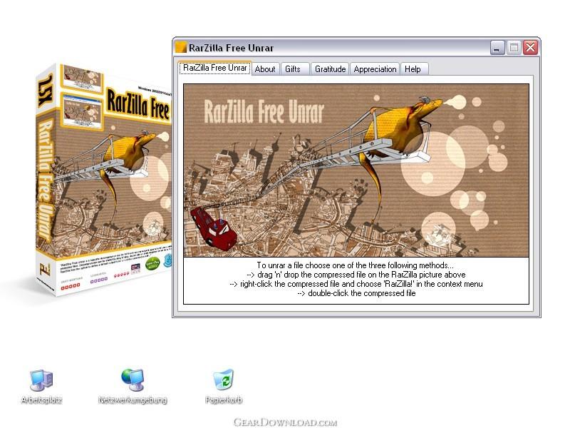 download rarzilla free unrar 3.31 system desktop tools