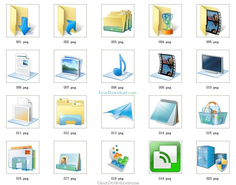 Windows 7 Icons Pack ( ico format) Free Download