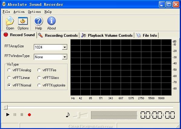 Absolute Sound Recorder может записывать звук с микрофона, звуки