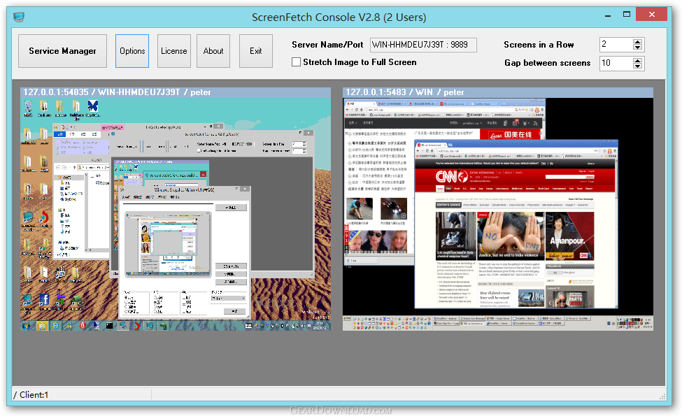 Network Software Screen Shot : Screenfetch free download