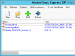 Aloaha Crypt, Sign and ZIP