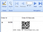 IDAutomation QRCode 2D SSRS Script Screenshot