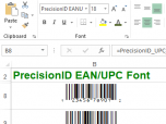 PrecisionID EAN UPC Fonts Screenshot