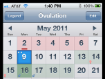 Ovulation Calendar Screenshot
