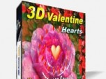 3D Valentine Hearts Screensaver