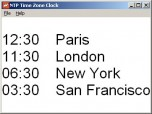 NTP Time Zone Clock