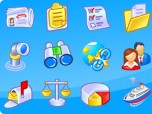 Vista Style Business and Data Icons