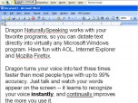 Nuance Dragon NaturallySpeaking Screenshot