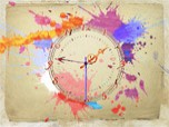 7art Water Color Clock Screenshot