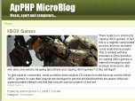 ApPHP MicroBlog Personal PHP Web Blog Screenshot
