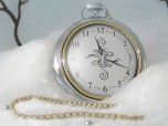 7art Silver Snow Clock screensaver Screenshot