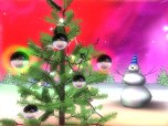 3D Christmas Space screensaver Screenshot