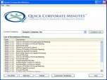 Quick Corporate Minutes Screenshot