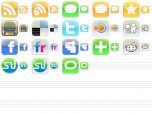 iPhone Style Social Icons Screenshot