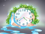 Nature Harmony Clock screensaver Screenshot