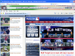 Baseball IE Browser Theme Screenshot