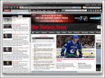 Hockey News IE Browser Theme Screenshot