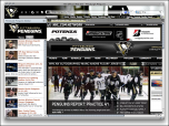 NHL Pittsburgh Penguins Hockey Firefox Theme Screenshot
