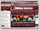 NHL Phoenix Coyotes Firefox Theme Screenshot