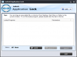 imlSoft Application Lock Screenshot