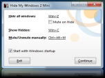 Hide My Windows Mini Screenshot