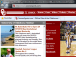 Oklahoma Sooners Firefox Theme Screenshot