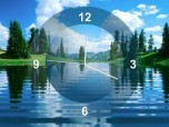 Lake Clock Screensaver