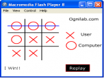 Tic Tac Toe Flash Screenshot