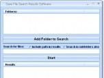 Save File Search Results Software