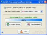 ChrisPC Free Anonymous Proxy Screenshot