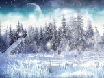 Winter Snow Screensaver Screenshot