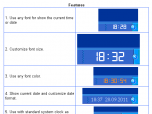 Desk Band Clock-7 Screenshot