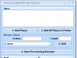 Rename Multiple PDF Files Software Screenshot