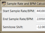 Sample Rate and BPM Calculator