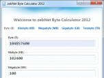 zebNet Byte Calculator TNG