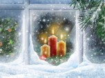 Christmas Candles Animated Wallpaper