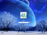 Deep Blue Winter Logon Screen