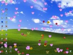 Hearts and Flowers Screensaver Screenshot
