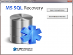 SoftAmbulance MS SQL Recovery Screenshot