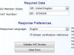 VAT Registration Number Validator
