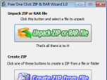 Free One Click ZIP and RAR Wizard