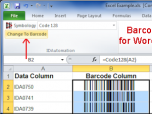 Barcode Addin for Word and Excel