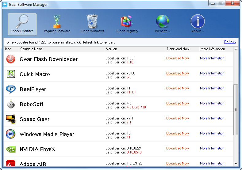 Click to view Gear Software Manager 1.0 screenshot